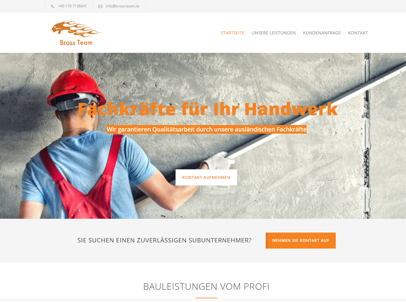 Webseiten Service Webdesign Bross Team